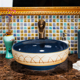 Wholesale Vessel Bowls - Hotel Restaurant Kitchen Modern Luxury Above Counter Art Basin Round Bowl Bathroom Small Porcelain Ceramic Vessel Sink