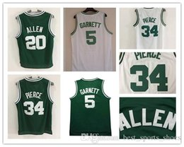 Wholesale Maurice White - 2017 New Kevin Maurice Garnett 5 Ray Allen Paul Pierce Basketball Jersey Men's Mesh stitched Jersey Embroidery White Green Basketball J