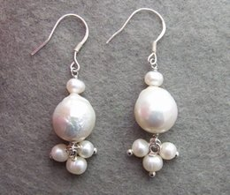 Wholesale Great Pearl Earring - Great! 11mm Bead-Nucleated Pearl Earrings-Sterling Silver