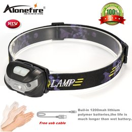Wholesale high motion - AloneFire HP31 Mini Rechargeable LED Headlamp 3000Lm Body Motion Sensor Headlight Camping Flashlight Head Light Torch Lamp With USB