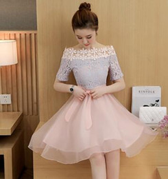 Wholesale Wholesale Big Women Clothes - New 2017 Women Clothing Casual Lace Pincess Boy Dress Big Girl Fashion Dress Women Summer short sleeve Dress M50501
