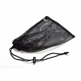Wholesale Tennis Net Wholesale - Wholesale- Black Nylon Golf Ball Bag Mesh Nets Bag Pouch Golf Table Tennis 48 Balls Carrying Holder Storage Bag String Closure 30x19cm 1Pcs