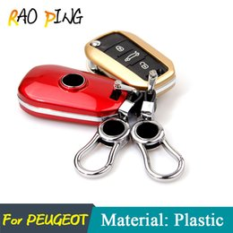 Wholesale Car Key Shell Peugeot - Peugeot 206 207 208 301 307 308 406 407 408 508 2008 3008 Folding Key Protect Shell Car Key Cover Case Shell Key
