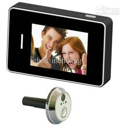 Wholesale Systems Video Free Wire - 2.8 Inch Door Peephole Camera System - DVR, Wired Video Camera, 170 Degree View Free shipping
