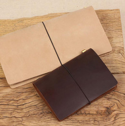 Wholesale Free Business Promotions - Free shipping LY-NB01 TN passport size vintage antique leather refillable leather jounal travelers notebook travel diary surface notepads
