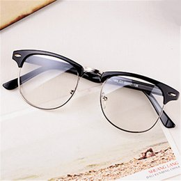spectacles glasses Promo Codes - Wholesale- Fashion 5154 Optical Glasses Spectacle Frame For Men Women Glasses With Clear Glass Male Female Clear Transparent Glasses Myopia