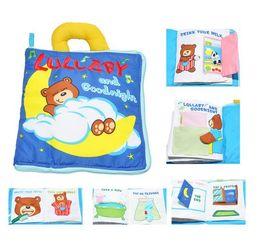 Wholesale Good Teddy Bears - Cloth Book Multi Function Bear Good Night Three Dimensional Toys Baby Soft Plush Puzzle Early Childhood Teddy Bear Doll 26nw H1