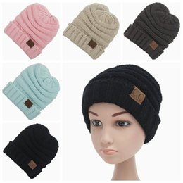 Wholesale Knitting Earflap Hat - 2017 kids winter hats caps handmade crochet baby hat knitted hat earflap CC hat girls boy beanie hats children bonnets accessories wholesale
