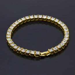 Klare stein armband online-Hip Hop Bling 1 Einreihige Klare Strass Pharao Armbänder Frauen Männer Gold Simulierte Stein 8