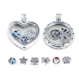 Wholesale Pandora S925 - DIY pandora charms necklace S925 silver locket necklaces pandora circular LOVE cage pendants sweater chains PD-X001