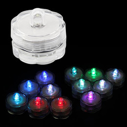 Wholesale Led Plastic Candle Tea Light - Super Bright Submersible Waterproof Mini LED Tea Light Candle Lights For Wedding Party Deocration Vase Light S201748