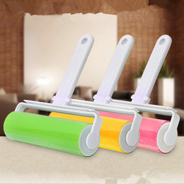 Wholesale Hair Blanket - Cleaning Brush Washable Lint Dust Hair Remover Cloth Reusable Washable Roller Sticky With Cover Brushes Cleaner Hot 3 6rr F