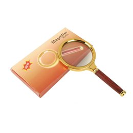 Wholesale 5x Magnifying - NEW 5X 80mm Handheld Magnifier Microscope Newspaper Magnifying Glass Read Magnifier Reading Magnifying Glass Jewelry Loupes With + Package