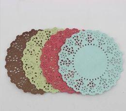 Décorations de boulangerie en Ligne-Gros-SS01606 4 couleurs de Noël dentelle fleurs boulangerie artisanat en papier pour le scrapbooking bricolage / fabrication de cartes / décoration de mariage / gâteau