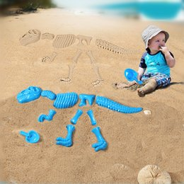Wholesale Toy Dinosaurs For Sale - Wholesale- Hot Sale Abs Plastic Baby Sandbeach Funny Sand Mold Set Dinosaur Skeleton Bones Beach Toy Kids Summer Toys For Children
