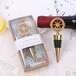 Wholesale Wholesale Wine Openers Wedding - Golden Compass Wine Stopper Wedding Favors And Gifts Wine Bottle Opener Bar Tools Souvenirs For Party Easter XL-G241