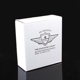 Wholesale Cedar Cigar Case - New arrival red color Cedar Mini Cigar Humidor case Creative Humidor Cigar With Hygrometer and Humidifier