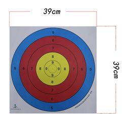Wholesale Paper Sales - Hot Sale All Mini Crossbow 10 Pcs 39cm 58.5cm 24cm New Target Face Paper Shooting Practise Archery Bow Arrow Outdoor Sport