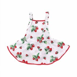 Wholesale Best Toddler Clothes - Baby girl clothes kids sleeveless flounced tiered sundress toddler Rubber band waist strap dress infant A-line clothing set best gift