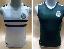 Wholesale Football Training Vests - 2017 2018 Mexico Soccer Jersey Home Away 17 18 Green football shirt CHICHARITO Camisetas Vest training Hernandez G DOS SANTO