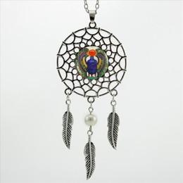 2017 À La Mode Style Dreamcatcher Pendentif Scarabée Egyptien Collier Antiquités D'Égypte Bijoux Dream Catcher Collier NDC-0021 ? partir de fabricateur