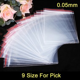 Wholesale Plastic Bag Reclosable - 100pcs lot Plastic Ziplock Bags Seal Bags Reclosable Zipper Bags 9 Size For Pick