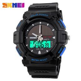 Wholesale Military Energy - Brand Solar Energy Watch Digital Quartz Watches Men Sports Watches Outdoor Military Relogio Masculino Skmei Clock Wristwatch New