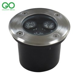 Wholesale LED Underground Light W V IP67 Buried Recessed Floor Ground Lamp Garden Path Yard Outdoor Plaza Landscape swimming pool fountain lighting