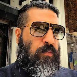 Wholesale Big Size Sunglasses - Coodaysuft Big Size Brand Designer Oversized Men Sunglasses Women Flat Top Sun Glasses Square 18 K Gold Male Oculos de sol