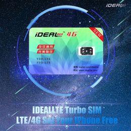 Wholesale Gpp Ios Wholesale - New iDeal LTE Turbo SIM Card for iPhone 7 Plus 7 6S Plus 6S 6 Plus 5S SE LTE iOS 10.3.2 10 R GPP Free DHL Shipping Worldwide