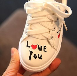 Wholesale Toddler Trainers - Casual Shoes Girls Boys Trainers Kids Children Toddler Sneakers 2017 Spring New Fashion Breathable Soft Lace Up White
