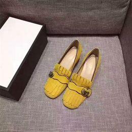 Wholesale Yellow Kitten Heels Wedding - 2017 new dress genuine leather pumps square high-end custom women shoes fashion comfortable party kitten heel shoes work attendance heelshoe