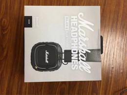 беспроводные черные наушники Скидка Marshall Major II 2.0 Беспроводные Bluetooth-наушники в черном DJ Studio Наушники Deep Bass Noise Изолирующая гарнитура для iphone Samsung