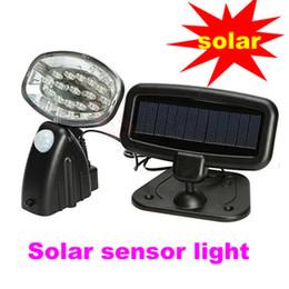 Wholesale Pir Led 15 - Wholesale- 15 LED Solar Sensor Power PIR Motion Detector Sensor Lights Security waterproof Spotlight Lamp Path Wall Lamps Solar Lamp