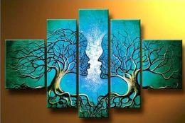 Árbol azul Cuerpo humano Moderno 100% Pinturas pintadas a mano Pinturas al óleo contemporáneas abstractas sobre lienzo Arte de la pared Decoraciones para el hogar desde fabricantes