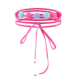 Wholesale Locking Choker Necklaces - 2017 selling single product fashion hair tie lace neckline, lock necklace choker wholesale DHL free shipping