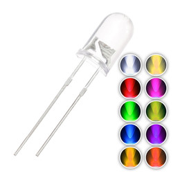 Wholesale Led Diode Cool White - Light Emitting Diode 5mm led warm White 2700-3500K white 5000-7000k red blue green Lead length 24-26mm LED beads 2000pcs lot