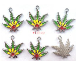 Wholesale Metal Leaf Charms - New Maple Leaf DIY Jewellery Making Metal Charm Pendants Jewelry Making Party Gifts A--49