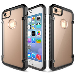 Wholesale Tpu Hard Hybrid Bumper - Shockproof Armor Clear Hybrid Bumper TPU Case For Samsung Galaxy S8 plus Matte Back Hard Silicone Cover for Iphone 7 6S Samsung S6 S7 edge