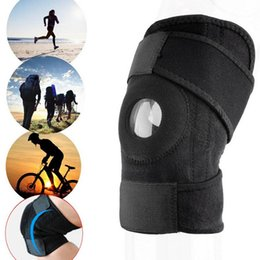 Wholesale Neoprene Knee - Wholesale- 1 pcs New Adjustable Elastic Neoprene Knee Brace Belt Fastener Patella Support Guard Black Protection Kneepad Safety Strapp