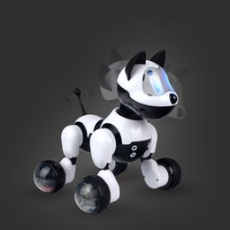 Wholesale Flexible Plastic Material - Intelligent Electronic Pet Flexible Voice Control Dog Doll Machine Sound Dialogue Child Toy Accompany Children Plastic Material 23CM 78sq I1