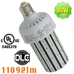 Wholesale Led E27 Lm - 2835 SMD 80W LED Corn Light Bulb, 5000K 6000K White, 11092 LM Equivalent 250-320W (Metal Halide Bulb, HID, CFL, HPS), UL DLC Certified
