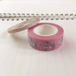 Wholesale japanese washi paper wholesale - Wholesale- 2016 Unicorn on Pink Washi Tape Paper 10m Kawaii Scrapbooking Tools Japanese Stationery Adesiva Decorativa Tapes School Office