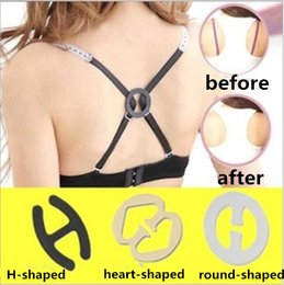Wholesale Perfect Cleavage - Invisible Oval Shape Bra Buckle H-shape heart-shape Perfect Adjust Bra Clasp, Clip Cleavage Control Strap Buckle Underwear free shipping