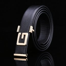 Wholesale Men Leather Jacked - Wholesale Brand Design Letter G Alloy Buckle Clasp Men's Leather Tide Casual Leather Jack Belt Fashion Leather Adult Belt Factory Outlet