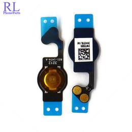 Wholesale Iphone 4s Key Home Button - 50pcs lot New Home Button Key Flex Cable Ribbon Replacement Repair Part for iPhone 4G 4S 5G 5C Wholesale