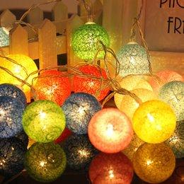 Wholesale Led Cotton Balls - 1.3M 10LED Cotton Ball String Lights Party Wedding Xman Christmas Decor LED holiday lighting Fairy string