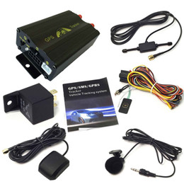 Wholesale gps tracking theft - Multifunction Realtime Vehicle Car GPS GSM GPRS Tracking System Kits Quad Band SD Move Alarm Anti-theft GPS Tracker TK103A