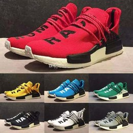 Wholesale People Running - 2017 new Williams Pharrell x NMD HumanRace People Racing Shoes Yellow Black NMD Human Race runner men women sports running sneakers 36-45