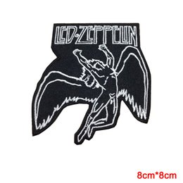 Wholesale Embroidery Patches Badges - LED ZEPPELIN ENGLISH ROCK BAND EMBROIDERY IRON ON PATCH BADGE